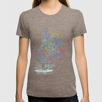 soul dj Womens Fitted Tee Tri-Coffee SMALL
