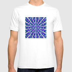 Woven Pixels II Mens Fitted Tee SMALL White