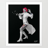 Princess Leia Strikes Ba… Art Print