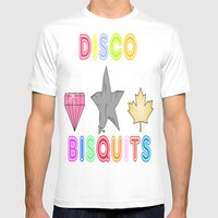 Disco Biscuits 2 Mens Fitted Tee White SMALL