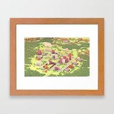 EarthBound - Town of Onett [Day] Framed Art Print