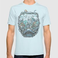 What Lurks Beneath Mens Fitted Tee Light Blue SMALL