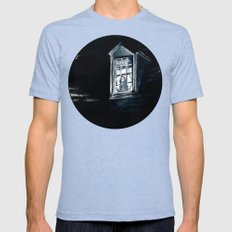 She Lived Here Once Mens Fitted Tee Tri-Blue SMALL