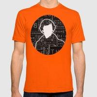 Sherlock BBC: Type Mens Fitted Tee Orange SMALL
