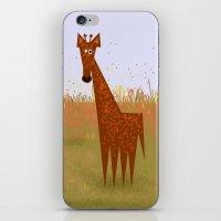Giraffe on the savannahs iPhone & iPod Skin