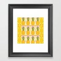 Pineapples #3 Framed Art Print