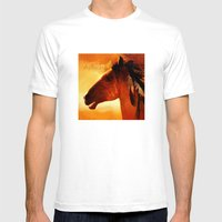 HORSE - Apache Mens Fitted Tee White SMALL