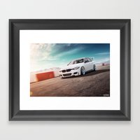 BMW On The Track Framed Art Print
