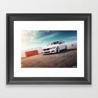 BMW On The Track Framed Art Print