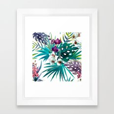 Tropical Watercolor Pattern Framed Art Print