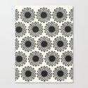 Vintage Flower_Black Canvas Print