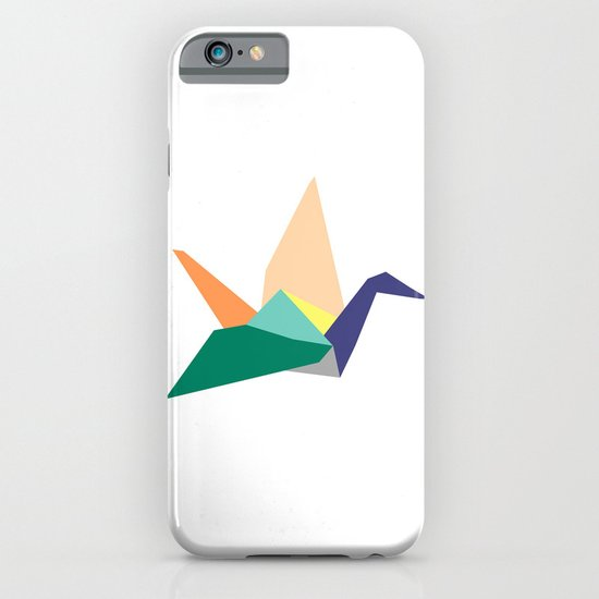 Swan, original colours on white iPhone & iPod Case