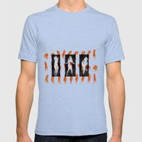 Orange dancer Mens Fitted Tee Tri-Blue SMALL