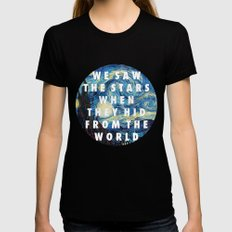 Starry Step Womens Fitted Tee Black SMALL