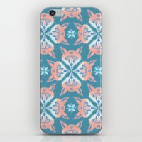 Pastel Fox Pattern iPhone & iPod Skin
