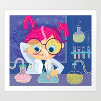 I Freaking Love Science Art Print