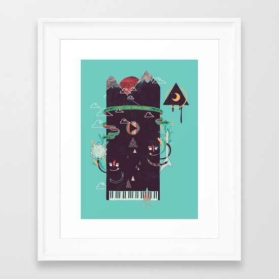 Play! Framed Art Print