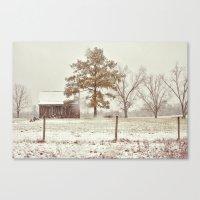 Snowy Farm Canvas Print