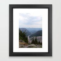 Rainier Gorge Framed Art Print