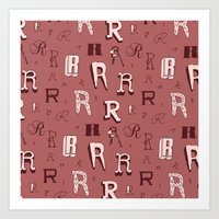 Letter Patterns, Part R Art Print