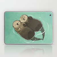 Significant Otters - Otters Holding Hands Laptop & iPad Skin