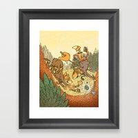 Brain Fox Framed Art Print