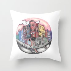 42 Building  Throw Pillow