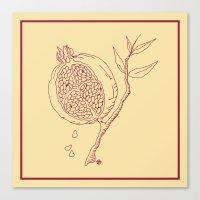 Golden Pomegranate Canvas Print