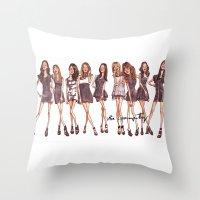 K-Pop Water Color Throw Pillow
