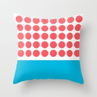 Forty Red Dots Over The … Throw Pillow