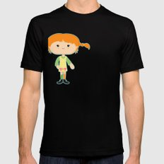 Pippi Mens Fitted Tee SMALL Black