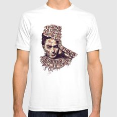 Frida Kahlo Flowers Mens Fitted Tee White MEDIUM
