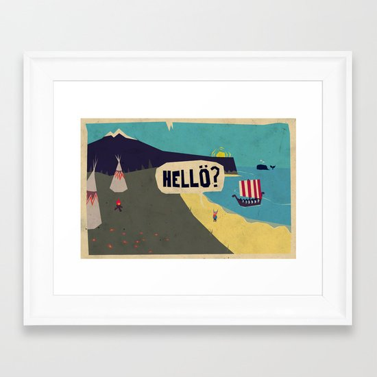 Hello? Framed Art Print