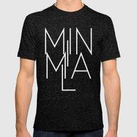 Minimal Milan /// www.pencilmeinstationery.com Mens Fitted Tee Tri-Black SMALL