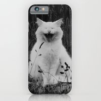 iPhone & iPod Case featuring The Laughing Cat by nickcollins.ca