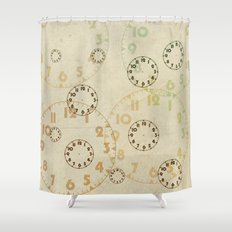 Time On Time Vintage  Shower Curtain