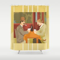 Card players by Cezanne Shower Curtain