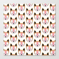 Arctic Fox Pattern Canvas Print