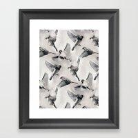 Sparrow Flight - Monochr… Framed Art Print