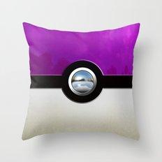 Retro Chrome purple Gengar pokeball iPhone 4 4s 5 5c 6, ipod, ipad, pillow case Throw Pillow