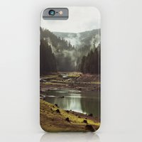 clouds iPhone & iPod Cases featuring Foggy Forest Creek by Kevin Russ