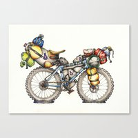 Bikepacking Full Color!! Canvas Print