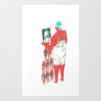 Rebound Girls Art Print