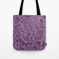 Wiggly Bubbles - Purple Tote Bag