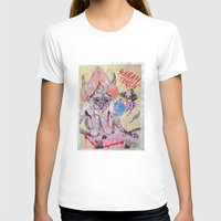 o hey Womens Fitted Tee White SMALL