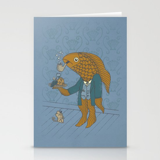 Big Eyed Fish Stationery Card