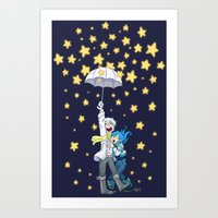 DMMd :: The stars are falling Art Print