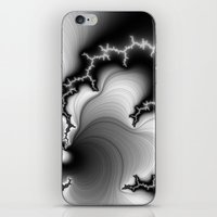 Black and White Fractal 3 iPhone & iPod Skin