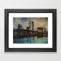 The Twin Towers, New York, NY  Framed Art Print