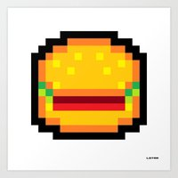 Meat Burger Art Print